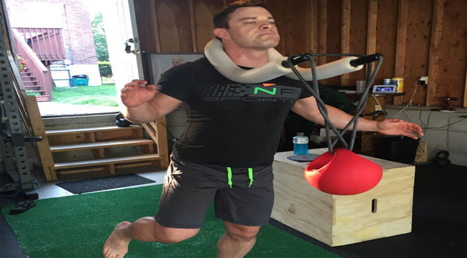 Davey Richards sticks to his PT routine at home.