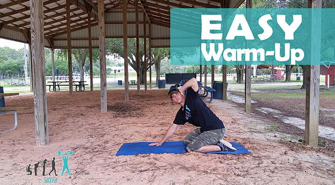 easy equestrian athlete warm up