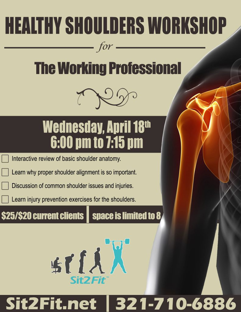 healthy shoulders workshop flyer