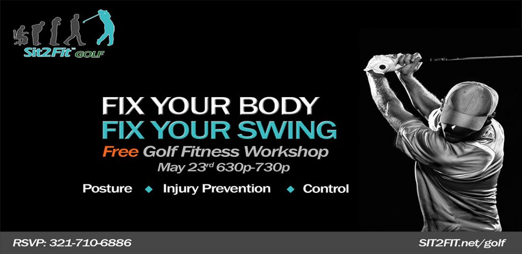 Golf fitness workshop flyer header